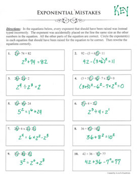 EXPONENTS IN EQUATIONS Exponential Powers