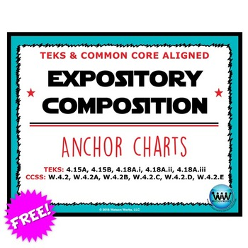 EXPOSITORY COMPOSITION Anchor Charts FREEBIE