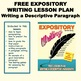 FREE EXPOSITORY WRITING LESSON PLAN - Writing a Descriptiv