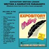 Expository Writing Lesson Plan - WRITING A NARRATIVE PARAGRAPH