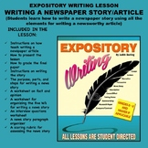 Expository Writing Lesson Plan  - WRITING A NEWSPAPER STORY