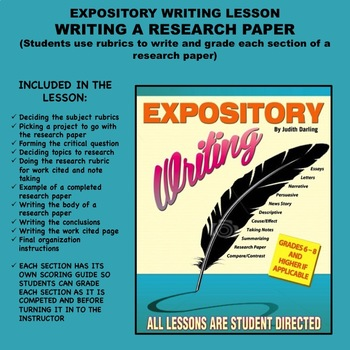 Expository Writing Lesson Plan  - WRITING A RESEARCH PAPER