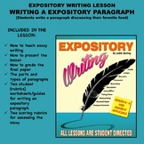 Expository Writing Lesson Plan - WRITING AN EXPOSITORY PARAGRAPH