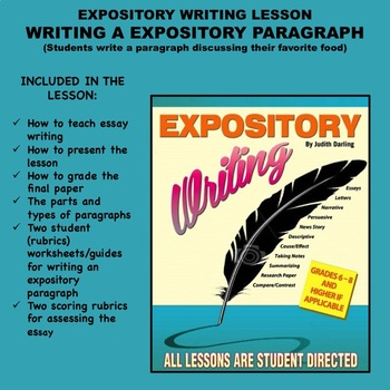 expository essay lesson plans 14 it's music to my ears: growing paragraphs into essays  writing an expository report —miles mccrimmon 48  36 lesson plans for teaching writing.