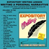 Expository Writing Lesson Plan  -WRITING A PERSONAL NARRAT