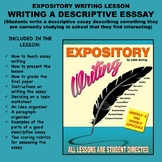 Expository Writing Lesson Plan  - WRITING A DESCRIPTIVE ESSAY