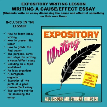 Expository Writing Lesson Plan - WRITING A CAUSE/EFFECT ESSAY