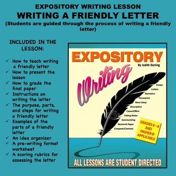 Expository Writing Lesson Plan Writing A Friendly Letter Tpt