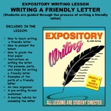 Expository Writing Lesson Plan - WRITING A FRIENDLY LETTER