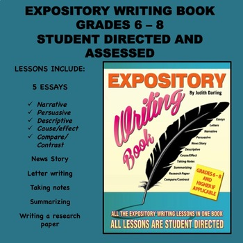 EXPOSITORY WRITING LESSONS  BOOK By Judith Darling