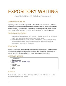EXPOSITORY WRITING EXPERIMENT