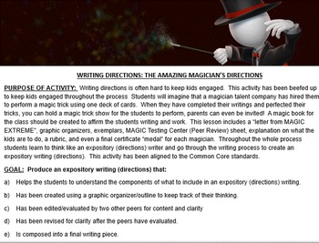 EXPOSITORY WRITING: THE GREAT CARD TRICK CHALLENGE (PowerPoint Version