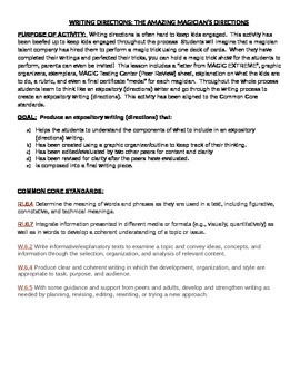 EXPOSITORY WRITING: THE GREAT CARD TRICK CHALLENGE (Word Version)