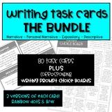 Writing Task Card Bundle Plus Corresponding Writing Menus