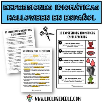 EXPRESIONES IDIOMÁTICAS ESPELUZNANTES PARA HALLOWEEN