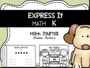 EXPRESS IT Math Journal {Number Partners}