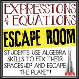 EXPRESSIONS AND EQUATIONS ALGEBRA ESCAPE ROOM