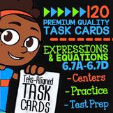 EXPRESSIONS & EQUATIONS ★ Math TEK 6.7A 6.7B 6.7C 6.7D ★ STAAR Math Task Cards