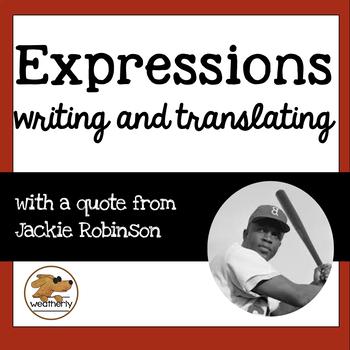EXPRESSIONS - verbal to algebraic / BLACK HISTORY