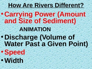 EXTENSIVE Water Cycle, Rivers, River Systems, and Watershed PowerPoint Notes