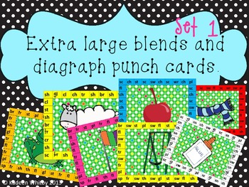EXTRA LARGE BLENDS AND DIAGRAPH CENTER PUNCH CARds.