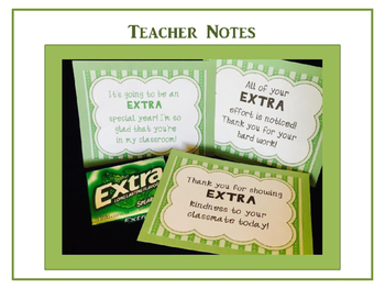 EXTRA Special Teacher Notes