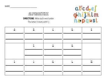 EXTRA Word Work Activities - Add on!