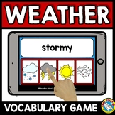 WEATHER ACTIVITY VOCABULARY GAME (BOOM CARDS SCIENCE)