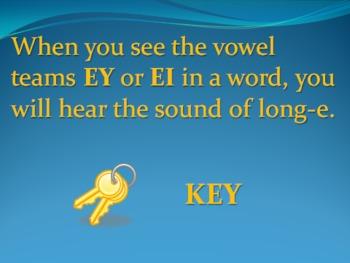 EY and EI Vowel Teams