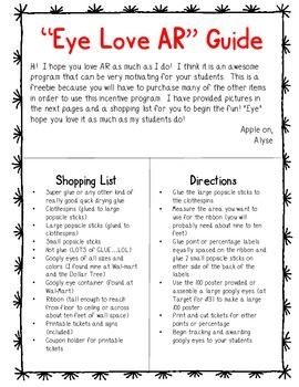 """EYE love AR"" Googly Eye Incentive Program"