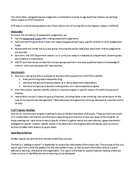 EYFS Assessment and Tracking Policy