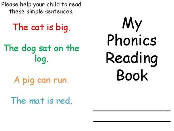 EYFS Simple Phonics Reading Homework Booklet