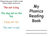 EYFS Simple Phonics Reading Homework Booklet