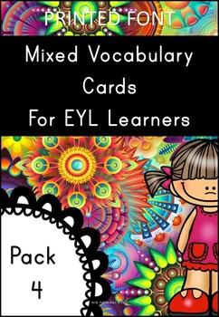 EYL Vocabulary Cards Pack 4 (EYL/ELL/ESL/EFL.EYFS/KS1)