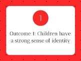 EYLF (Early Years Learning Framework) Outcomes Wall Display Signs