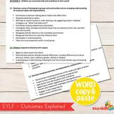 EYLF - Early Years Learning Framework Word Document (Copy