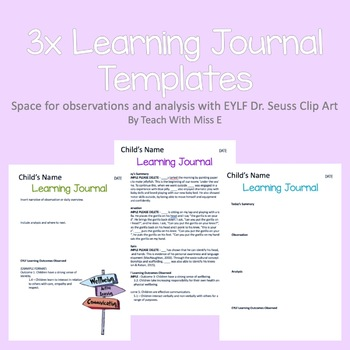 EYLF Learning Journal Templates