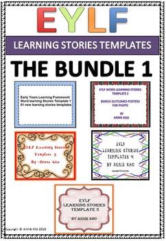 EYLF Learning Stories Templates Bundle 1