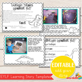 EYLF Learning Story Templates