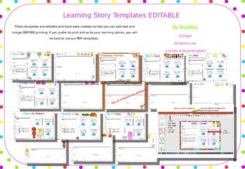 EYLF Learning Story Templates EDITABLE PowerPoint