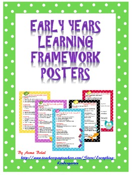 EYLF Learning Through Play Posters ,