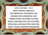 EYLF Outcome 1 - 5 Poster for photo Bonus Aboriginal Picture Cards