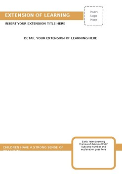 EYLF Outcome Three Learning Story Template