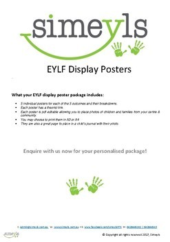 EYLF posters, personalise with your own centre photos(Original)