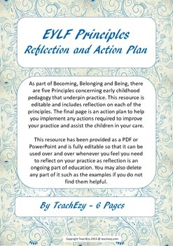 EYLF Principles Reflection and Action Plan