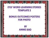 EYLF Word Learning Stories Template 2 bonus Outcome Posters for photos