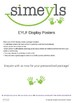 EYLF posters, personalise with your own centre photos (leaf design)