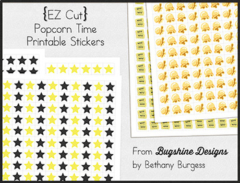 EZ Cut Incentive Chart Printables {Popcorn Time}
