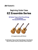 EZ Guitar Trios on First Three Strings in First Position