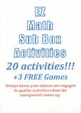EZ Math Sub Box Activities & 3 Free Games